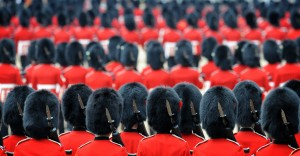 "ing the Queen's Official Birthday in June 2011. The parade took place on Horse Guards Parade at the ceremony known as 'Trooping the Colour""."